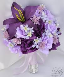 purple and silver wedding which bouquets would work for a purple and silver wedding