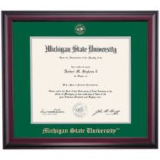 of michigan diploma frame michigan state school color traditional for college of diploma