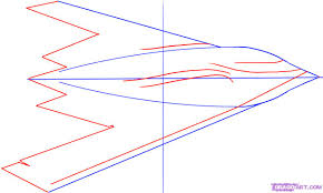 How Ro How To Draw The Plane A Stealth B 2 Spiritstealthbomber Step By Step