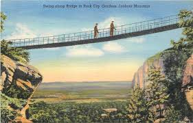 chattanooga tennessee swing along bridge rock city gardens 1940s