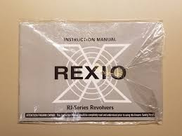 rexio rj series revolver instruction manual owners book booklet