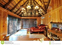 luxury log cabin accommodation royalty free stock photos image