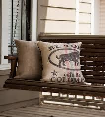 Burlap Home Decor Burlap Coffee Sack Pillow Home Decor U0026 Lighting Plywood Made