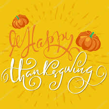 happy thanksgiving lettering text handmade vector