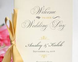Wedding Programs Sample Jewish Wedding Program Wedding Program Booklets Blush And
