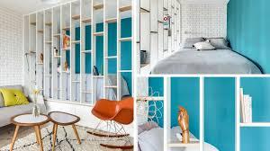 coin chambre dans salon avant après créer un coin chambre dans un studio de 25 m2