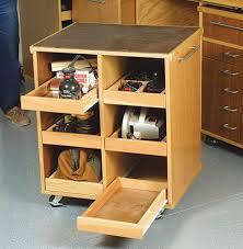 Garage Ideas Plans Garage Workbench Rolling Cart Fits Underench Storage For Tools
