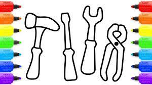 baby repair tools set toys coloring pages and drawing for kids