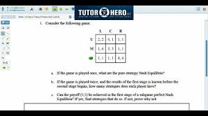online economics tutor game theory problem youtube