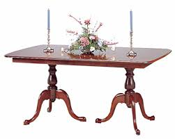 Two Pedestal Dining Table Cherry Double Pedestal Dining Table