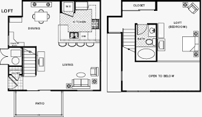Small House Plans With Loft Bedroom - view polo villas loft apartment floor plans below house
