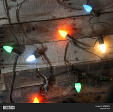 Colored Christmas Lights by Genuine Vintage 1950s Era Colored Christmas Lights Against Vintage