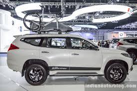 white mitsubishi sports car 2016 mitsubishi pajero sport side white at 2016 bimc indian