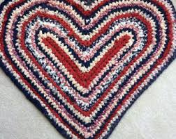 Red White And Blue Rugs Heart Shape Rug Etsy