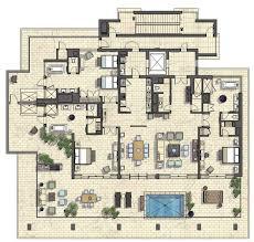 luxury penthouse floor plans hawaiian joy english condominium