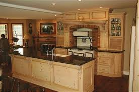 modern kitchen with unfinished pine cabinets durable pine take care knotty pine kitchen cabinets