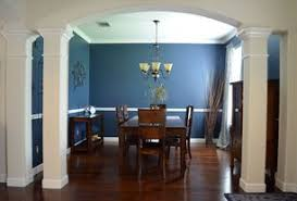 blue dining room columns design ideas u0026 pictures zillow digs