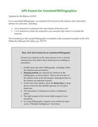 apa annotated bibliography more assistance with apa style see