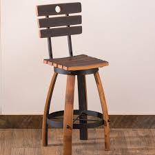 shop for sustainable dining kitchen furniture vivaterra repurposed wine barrel backed stool