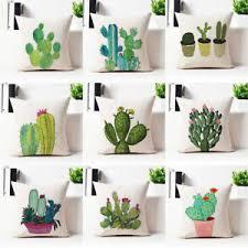 cactus home decor cute cactus potted printed pillow case sofa home decor linen cushion