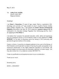 application letter for fire