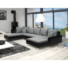 canap noir et gris canapé en u panoramique dante gris et noir design achat vente
