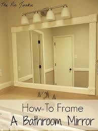 Framed Bathroom Mirrors Ideas Framing A Bathroom Mirror 8 Trendy Interior Or Beautiful Framing