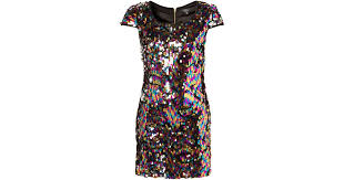 topshop multi coloured sequin dress by rare lyst