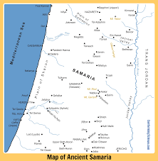 Map Of Israel Map Of Ancient Roman Samaria Map Of Samaria At The Time Of Jesus