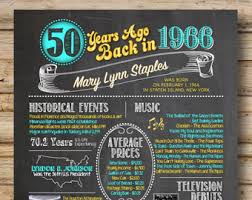 how 2 events 50 years 50th birthday chalkboard poster back in 1968 50 years ago
