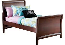 cherry sleigh bed ivy league cherry 3 pc twin sleigh bed beds dark wood