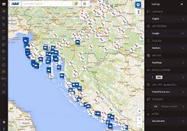Road Trip Map Hak U0027s Interactive Map Essential Map App For Croatia Road Trip