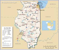 Map Of The State Of Kansas by Reference Map Of Illinois Usa Nations Online Project