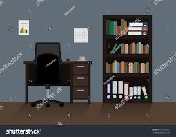 Home Interior Vector by Home Office Interior Vector Stock Vector 426266212 Shutterstock