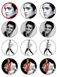 elvis cake topper edible icing cupcake toppers sheet of 12