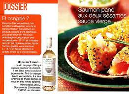 revue cuisine vermentino 2010 article presse revue cuisine actuelle février 2013
