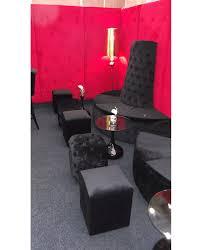 Red Velvet Chesterfield Sofa by Black Velvet Chesterfield Style Pouffe Hire