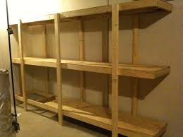 Shelving Units Build Easy Free Standing Shelving Unit For Basement Or Garage 7