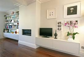 furniture open plans built in wall white cabinets shelves living