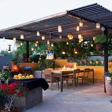 Hanging Patio Lights by How To Plan And Hang Patio Lights Patio Lighting Pergolas And