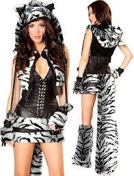 Female Pimp Halloween Costume White Tiger Halloween Costume Women 3wishes