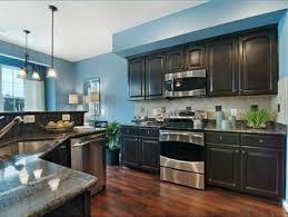 peinture dans une cuisine cuisine bleue cuisine salle manger bleue aux styles mlangs nouveau