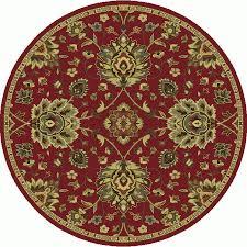 Round Jute Rug 7 Shop Oriental Weavers Of America Garrison Red Round Indoor Machine