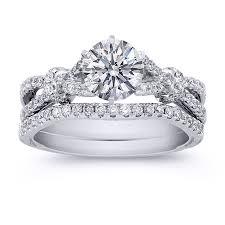 bridal set wedding rings engagement ring diamond bow knot bridal set engagement ring
