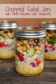 chopped salad jars with white balsamic dijon vinaigrette foxes