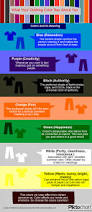 what your clothing color say about you visual ly