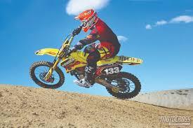 best 125 motocross bike motocross action magazine mxa u0027s 2006 suzuki rm125 two stroke