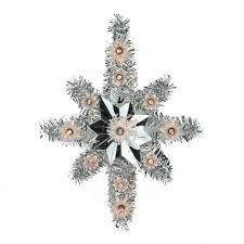 christmas tree tinsel lighted silver tinsel of bethlehem christmas tree topper