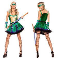 women ninja turtle costume green sleeveless mini dress