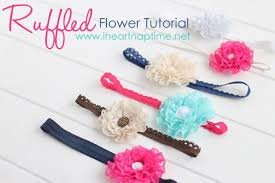 how to make baby flower headbands make these ruffled lace flowers for less than a buck find the